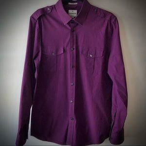 Express Purple MK2 Fitted Button Down